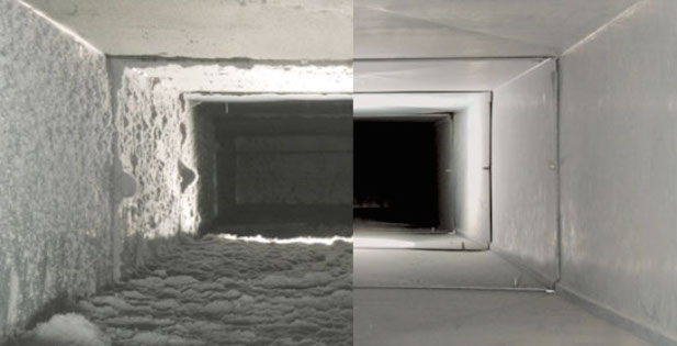 Air Duct Cleaning- Before and After